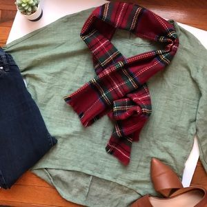 Accessories - (free with purchase!) NEW Plaid Fleece Scarf